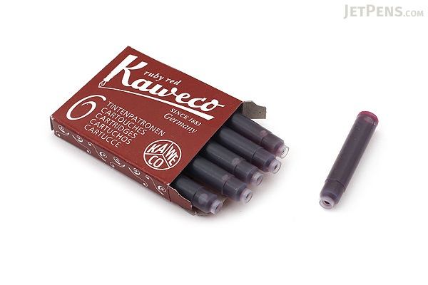 Kaweco Fountain Pen Ink Cartridge - Ruby Red - Pack of 6 - KAWECO 10000008