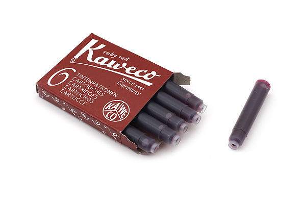 Kaweco Fountain Pen Ink Cartridge - Ruby Red - Pack of 6 - KAWECO 10000008