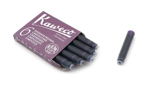 Kaweco Fountain Pen Ink Cartridge - Summer Purple - Pack of 6 - KAWECO 10000010