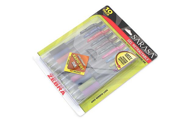 Zebra Sarasa Retractable Gel Pen - 0.7 mm - 10 Color Set - ZEBRA 46881
