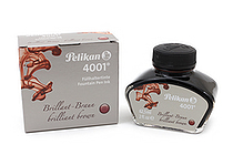 Pelikan 4001 Fountain Pen Ink Collection - 62.5 ml Bottle - Brilliant Brown - PELIKAN 329185