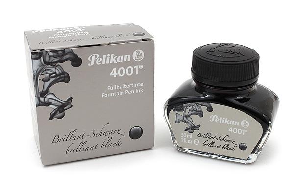 Pelikan 4001 Fountain Pen Ink Collection - 30 ml Bottle - Brilliant Black - PELIKAN 301051