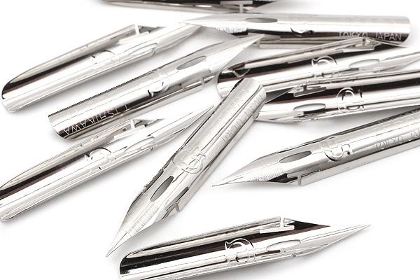 Zebra Comic Pen Nib - G Model - Chrome - Pack of 10 - ZEBRA PG-6C-C-K