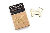 Midori D-Clips Paper Clips Mini Box - Dog - Chihuahua - Box of 12 - MIDORI 43331-006