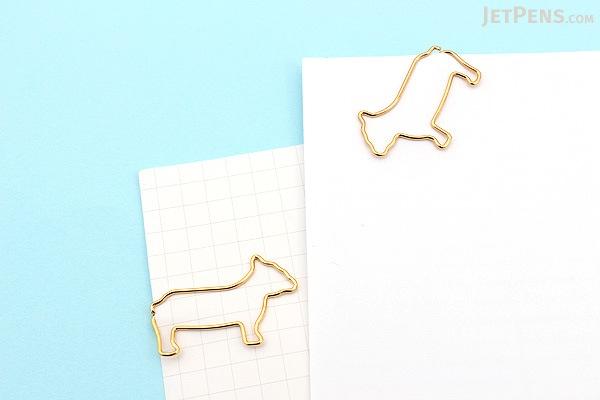 Midori D-Clips Paper Clips Mini Box - Dog - Pug  - Box of 12 - MIDORI 43332-006
