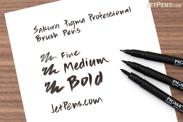 Sakura Pigma Professional Brush Pen - Medium - Black - Pack of 2 - SAKURA 50026