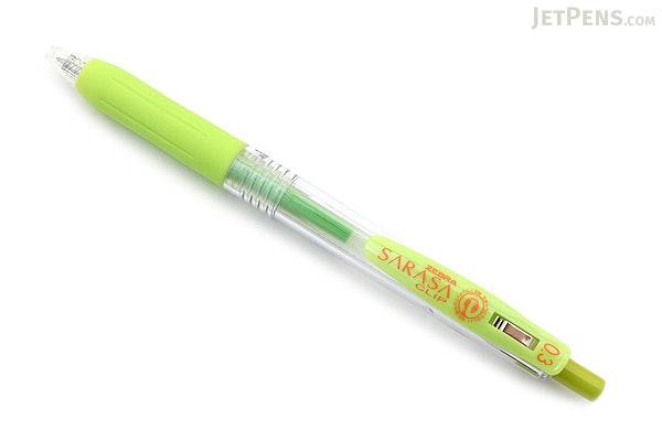 Zebra Sarasa Push Clip Gel Pen - 0.3 mm - Light Green - ZEBRA JJH15-LG