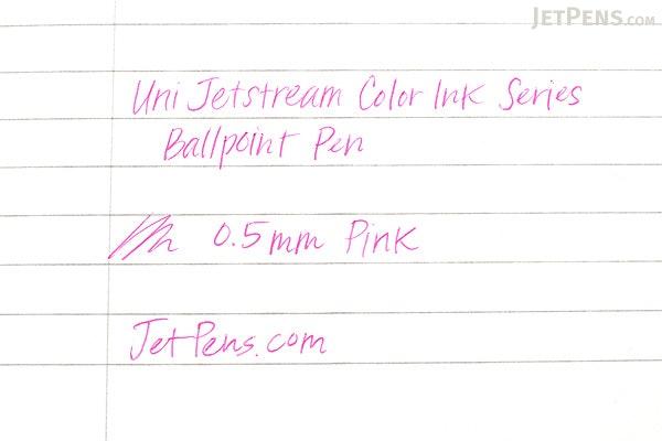Uni Jetstream Color Ink Series Ballpoint Pen - 0.5 mm - Pink Ink - UNI SXN15805.13