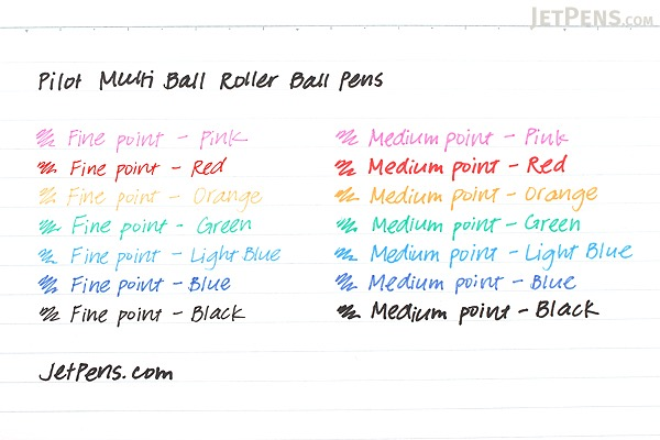 Pilot Multi Ball Rollerball Pen - Fine - Red - PILOT LM-10F-R