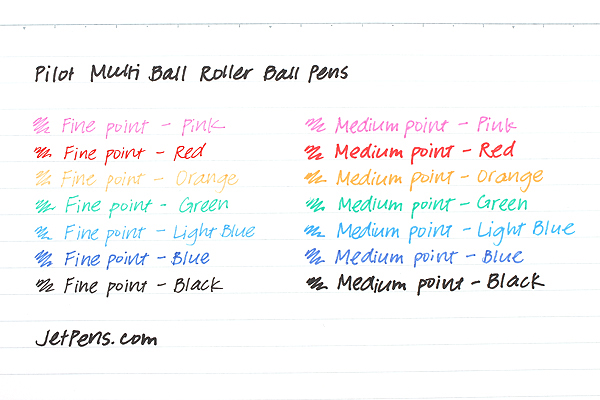 Pilot Multi Ball Rollerball Pen - Fine - Orange - PILOT LM-10F-O