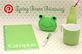 Pen Perks: Pinterest Spring Green Giveaway