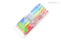 Zebra Sarasa Push Clip Gel Pen - 0.4 mm - 5 Color Set - ZEBRA JJS15-5CA