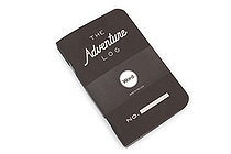 "Word Notebooks The Adventure Log - 3.5"" x 5.5"" - Pack of 3 - Black - WORD NOTEBOOKS W-ADVENTURELOGBK"