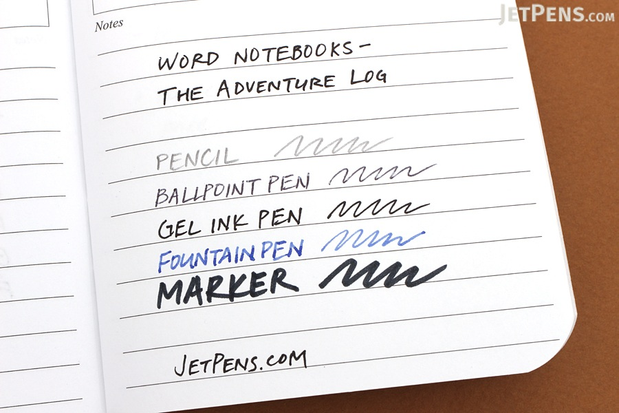 """Word Notebooks The Adventure Log - 3.5"""" x 5.5"""" - Pack of 3 - Black - WORD NOTEBOOKS W-ADVENTURELOGBK"""