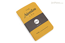 "Word Notebooks The Adventure Log - 3.5"" x 5.5"" - Pack of 3 - Yellow - WORD NOTEBOOKS W-ADVENTURELOGYE"