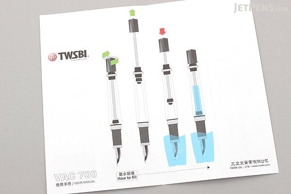 TWSBI Vac700 Clear Fountain Pen - Medium Nib - TWSBI M7442630