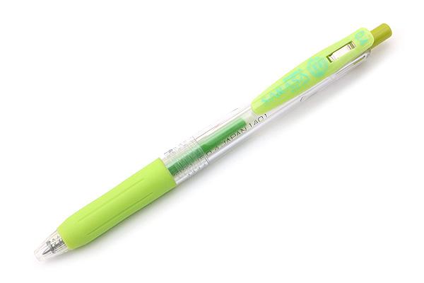 Zebra Sarasa Push Clip Gel Pen - 0.4 mm - Light Green - ZEBRA JJS15-LG