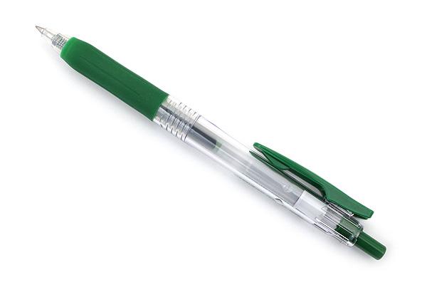 Zebra Sarasa Push Clip Gel Pen - 0.4 mm - Viridian Green - ZEBRA JJS15-VIR