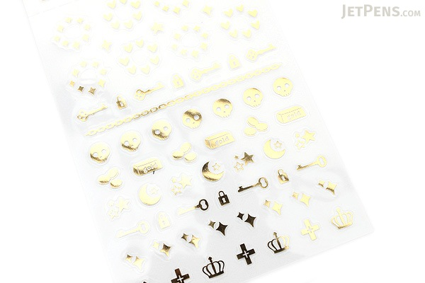 Midori Seal Collection Planner Stickers - Gold - MIDORI 82146-006