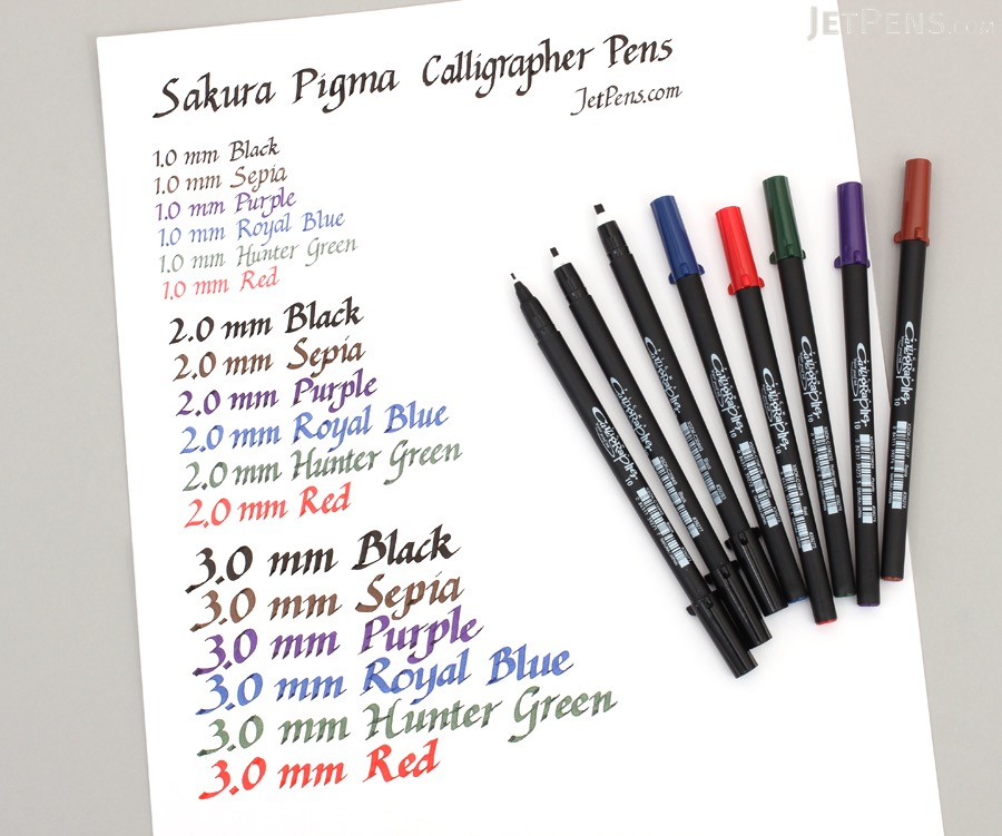 Sakura Pigma Calligrapher Pen - 3.0 mm - Hunter Green - SAKURA XSDK-C30-230
