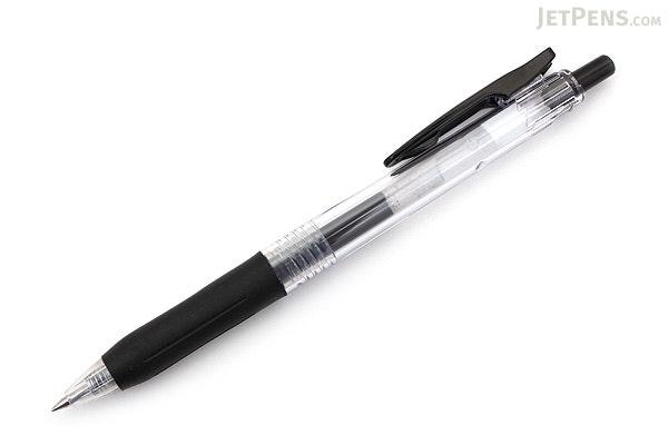 Zebra Sarasa Push Clip Gel Pen - 0.5 mm - Black - ZEBRA JJ15-BK