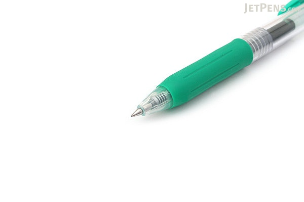 Zebra Sarasa Push Clip Gel Pen - 0.5 mm - Green - ZEBRA JJ15-G