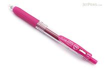 Zebra Sarasa Push Clip Gel Pen - 0.5 mm - Magenta Pink - ZEBRA JJ15-MZ