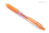 Zebra Sarasa Push Clip Gel Pen - 0.5 mm - Orange - ZEBRA JJ15-OR