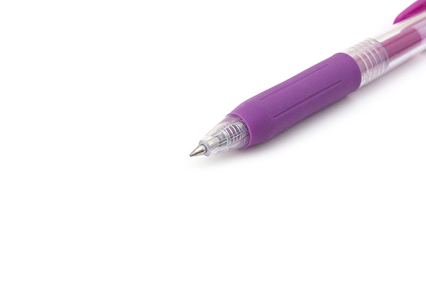Zebra Sarasa Push Clip Gel Pen - 0.5 mm - Purple - ZEBRA JJ15-PU