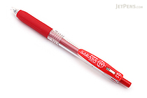 Zebra Sarasa Push Clip Gel Pen - 0.5 mm - Red - ZEBRA JJ15-R