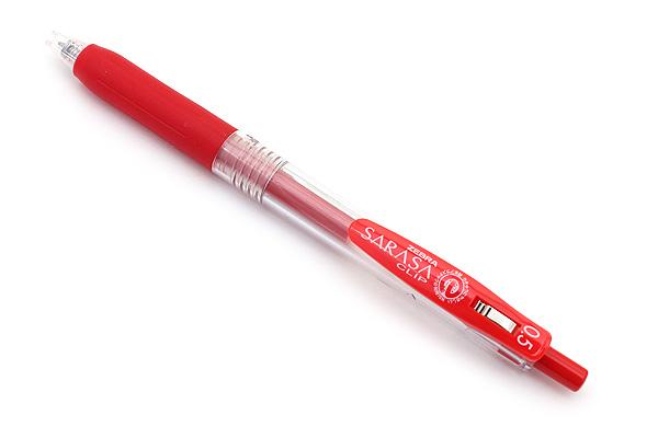 Zebra Sarasa Push Clip Gel Pen - 0.5 mm - Red - ZEBRA JJ15-R