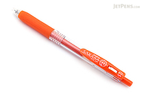 Zebra Sarasa Push Clip Gel Pen - 0.5 mm - Red Orange - ZEBRA JJ15-ROR