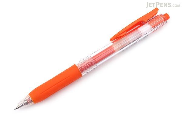 Zebra Sarasa Push Clip Gel Pen - 0.5 mm - Red Orange - ZEBRA JJ15-ROR