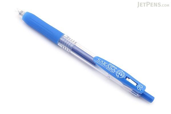 Zebra Sarasa Push Clip Gel Pen - 0.5 mm - Pale Blue - ZEBRA JJ15-PB