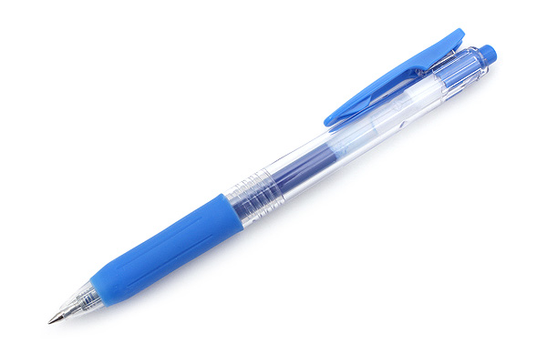 Zebra Sarasa Push Clip Gel Pen - 0.5 mm - Pale Blue - ZEBRA JJ15-PB