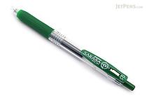 Zebra Sarasa Push Clip Gel Pen - 0.5 mm - Viridian Green - ZEBRA JJ15-VIR