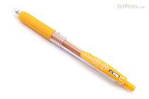 Zebra Sarasa Push Clip Gel Pen - 0.5 mm - Yellow - ZEBRA JJ15-Y