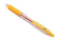 Zebra Sarasa Push Clip Gel Pen - 0.5 mm - Yellow - ZEBRA JJ15-Y