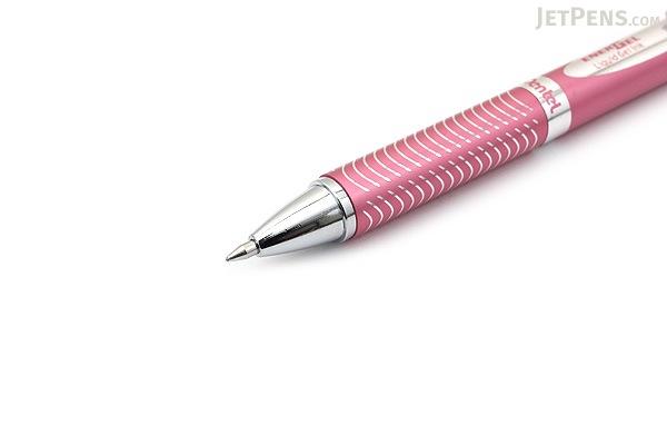 Pentel EnerGel Alloy Gel Pen - 0.7 mm - Black Ink - Pink Body - PENTEL BL407P-A
