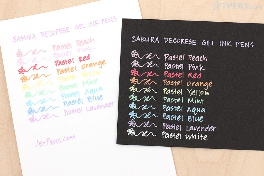 Sakura Decorese Gel Pen - 0.6 mm - 5 Color Set - Pastel Fruity - SAKURA DB206P5A