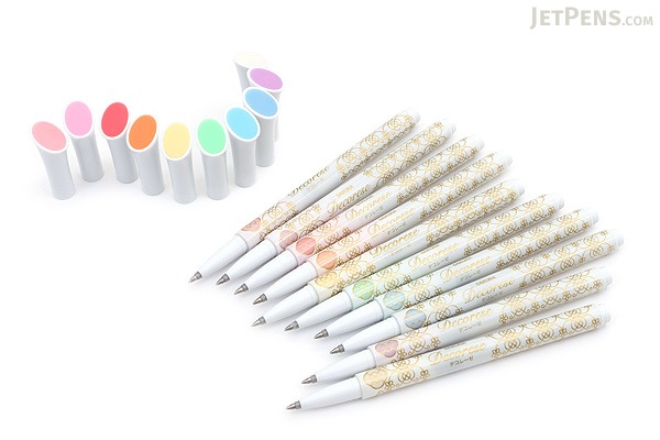 Sakura Decorese Gel Pen - 0.6 mm - 5 Color Set - Pastel Floral - SAKURA DB206P5B