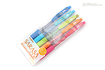 Zebra Sarasa Push Clip Gel Pen - 0.7 mm - 5 Color Set - ZEBRA JJB15-5CA