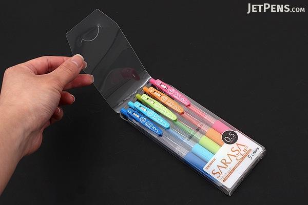 Zebra Sarasa Push Clip Gel Pen - 0.5 mm - 5 Color Set - ZEBRA JJ15-5CA