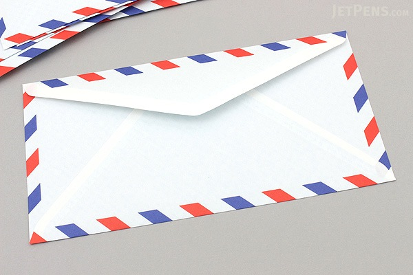 Life One Touch Airmail Envelopes - Western No. 6 - Pack of 10 - LIFE E26