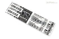 Zebra ESB-0.5 Emulsion Ink Ballpoint Pen Refill - D1 - 0.5 mm - Black - ZEBRA RESB5-BK