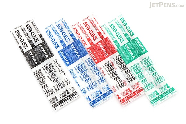 Zebra ESB-0.5 Emulsion Ink Ballpoint Pen Refill - D1 - 0.5 mm - Green - ZEBRA RESB5-G