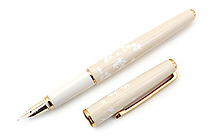 Pilot Lady White Fountain Pen - Fine Nib - Momiji Maple Body - PILOT FD-18SR-MO-F
