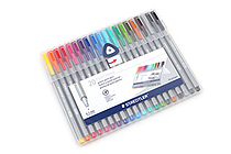 Staedtler Triplus Fineliner Pen - 0.3 mm - 20 Color Set - STAEDTLER 334 SB20A6