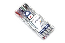 Staedtler Triplus Fineliner Pen - 0.3 mm - Nature Colors - 6 Color Set - STAEDTLER 334SB6C2A6