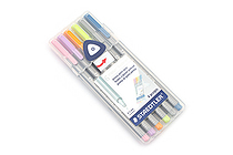 Staedtler Triplus Fineliner Pen - 0.3 mm - Pastel Colors - 6 Color Set - STAEDTLER 334SB6C1A6